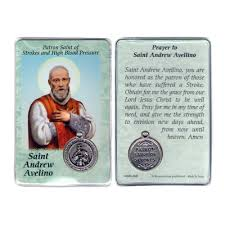 prayer card andrew avelino prayer card with medal
