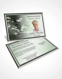 2 page grad fold funeral program template brochure emerald shining