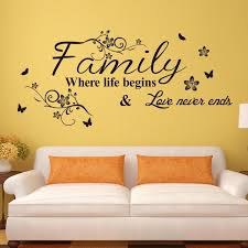 Wall Decor Stickers by Vinyl Wall Decal Decor Quote Stickers Family Where Begins