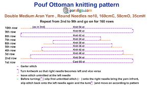 pouf ottoman knitting tutorial paraligo com