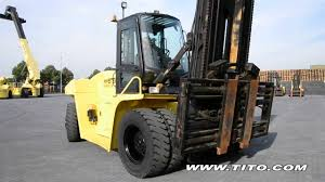 tito com used 16 ton forklift hyster h16 00xm 12 driving