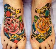 anchor rose tattoo birds juxtapost