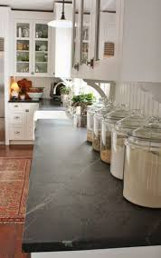 Country Kitchens With White Cabinets by Country Kitchen With Soapstone Countertops And White Cabinets
