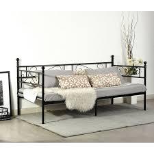 amazon canapé beau aingoo cadre de lit unique canapé lit en fer forgé en noir