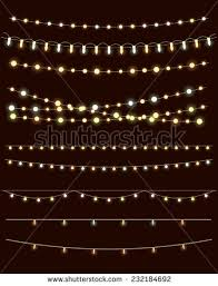 christmas lights on dark background vector stock vector 233086444