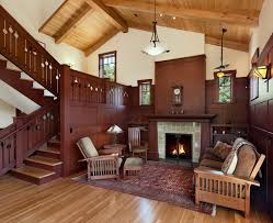 Prairie Style Homes Interior Interior Craftsman Style Living Room Photo Living Room Design
