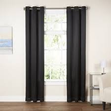 Black And Gray Curtains Black And Curtains Wayfair