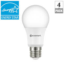 Home Depot Led Light Fixtures Ecosmart 60w Equivalent Soft White A19 Energy Star Dimmable Led