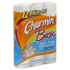 Charmin Bathroom Charmin Basic Bathroom Tissue Unscented Big Rolls 1 Ply 12