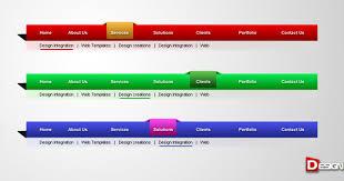 website menu design 40 free website navigation menu bar psds