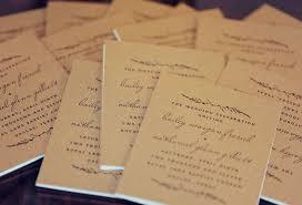 livret de messe mariage ã tã lã charger couverture livret de messe en papier kraft my wedding s ideas