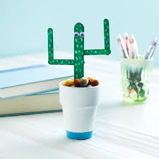 kids club potted craft stick cactus