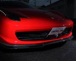 leap design ld 458 fs leap design carbon fiber front spoiler ferrari 458 italia