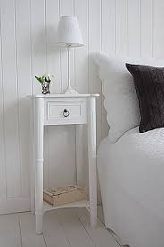 narrow bedside table tall narrow bedside table to go with tall bed new england white