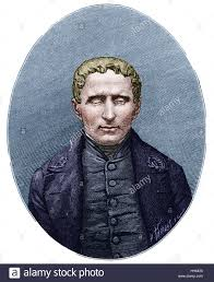 Writing System For The Blind Louis Braille 1809 1852 French Inventor Of System Of Raised