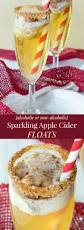 sparkling apple cider floats alcoholic and non alcoholic versions
