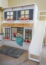 Dormitorio Infantil 03 Chambre D Enfants Ou D Quartos De Crianças Modernos Com Escorregador Em Escada