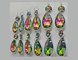 Glass Crystal Chandelier Drops 12 Ab Vitrail Rainbow Chandelier Drops Glass Crystals Droplets