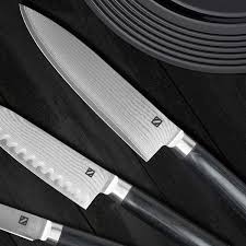 amazon com zelancio cutlery premium japanese vg 10 damascus steel