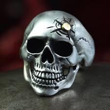 silver rings skull images Skull ring anatomically correct real biker ring biker jewelry jpg