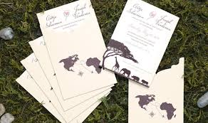 wedding invitations gauteng south safari wedding invitation adori designs custom