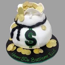 birthday cakes money bags custom birthday cake