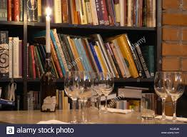 wine cellar table the wine book library with a table with tasting glasses and a