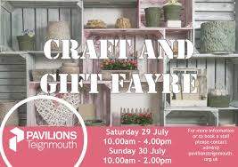 summer craft and gift fayre pavilions teignmouth