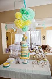 Baby Shower Centerpieces For Boy by Best 10 Teal Baby Showers Ideas On Pinterest First Birthday