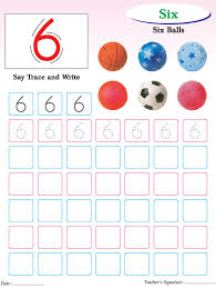 numbers writing practice worksheet 6 download free numbers