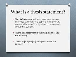 what is the thesis statement thesis statements and topic sentences ppt video online download
