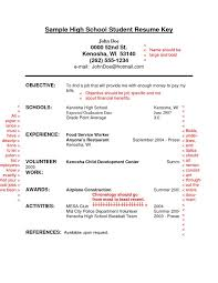 Objective Examples For Resume For Students by Sample Resume For A Highschool Student With No Experience