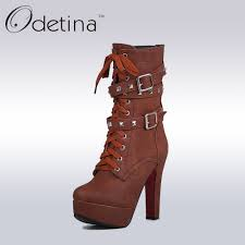 ladies lace up biker boots popular punk boots buy cheap punk boots lots from china punk boots