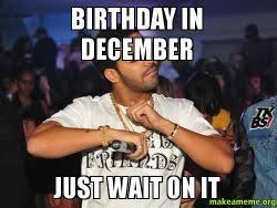 December Birthday Meme - birthday in december just wait on it make a meme