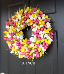 spring wreath tulip spring wreath summer wreath custom front
