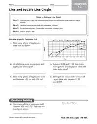 line and double line graphs homework 7 3 4th 5th grade
