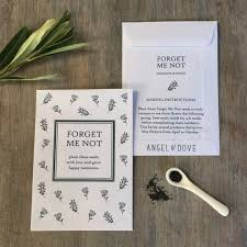forget me not seed packets 10 forget me not seed packet funeral favours remembrance