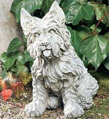 westie statue dover white contemporary garden statues and
