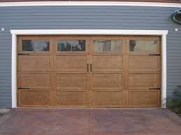 some examples of the style garage doors made of wood and glass and