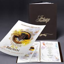 Funeral Booklets Brown Funeral Order Of Service Booklet Memories Funeral Order