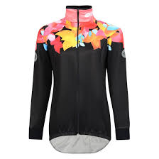 fluorescent cycling jacket women s fluoro flower cycling jacket reflective waterproof