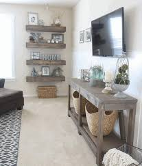 living room interior with skandinavian rustic style thick wooden