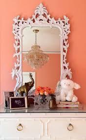 white baroque mirror hollywood regency nursery sherwin