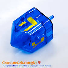 large dreidel blue fillable large plastic dreidel