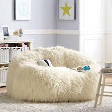 giant bean bags into the glass deeply comfortable white fur