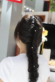 hair styles with rhinestones simple and beautiful fishtail braid hairstyles with rhinestones
