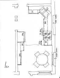 kitchen floor plan tile layout elevation the island house plans