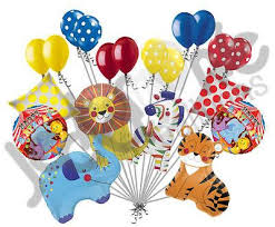 large birthday balloons colorful circus animals happy birthday balloon bouquet