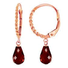 leverback earrings 14k solid gold leverback earrings with briolette garnets ebay