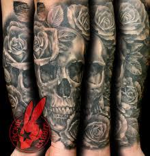 healed 3d skull roses sleeve by jackie ra flickr